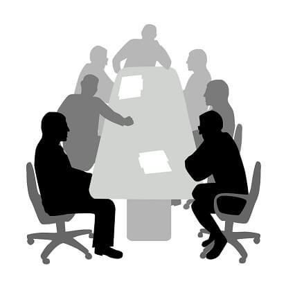 Meeting in Black & White
