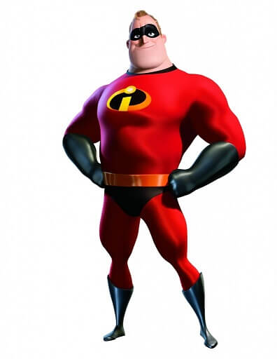 Image of Mr Incredible, father from the animated movie, The Incredibles