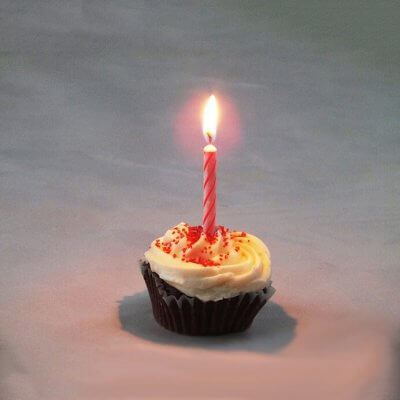candle cupcake