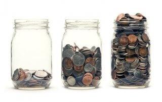jars coins
