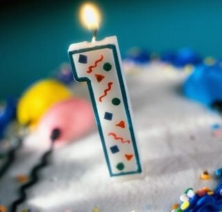No. 1 Birthday Candle